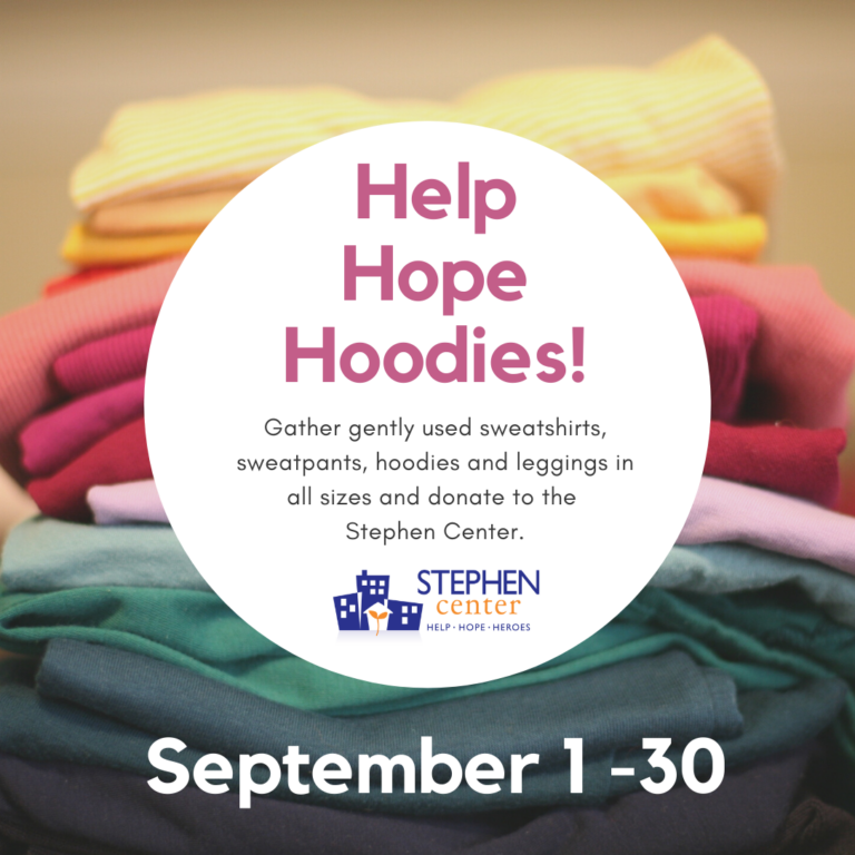 This image gives the details for the 2021 Help Hope Hoodies event.